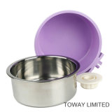 Bacias redondas de suspensão do animal de estimação do alimentador do metal plástico da qualidade