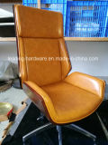 Высокие загнуть древесины вращающийся Office кресло в подлокотнике