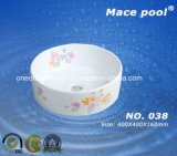 Type rond normal compétitif bassin d'art de lavabo (038)