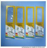 140*38mm подгонянный увеличитель правителя чтения Bookmark PVC промотирования Hw801