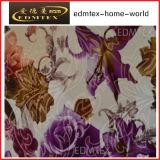 Связанная полиэфиром 100% ткань занавеса бархата печатание ткани (EDM0435)