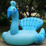Pavone blu gonfiabile del PVC del galleggiante gigante del raggruppamento per nuoto