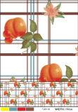 プラスチック裏付け(TJD110)が付いているPVCによって印刷されるパターン様式のテーブルクロス