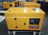 10kVA передвижной тип молчком тепловозный участок /Three комплекта генератора одиночный