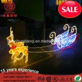 LED 2.5m PVC屋外の装飾のための黄色い球のモチーフロープのクリスマスの照明