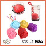 Setaccio del foglio di Infuser del tè della Rosa del silicone del commestibile Ws-If063 per la tazza della tazza, POT del tè
