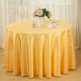 Hotel de la boda de mesa de tela cubierta de mantel redondo de poliéster (DPF10780)