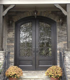 Puerta de acero moderna del hierro labrado de la entrada principal del diseño de la parrilla