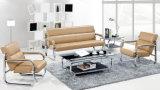 Sofá del cuero de la sala de estar de los muebles de oficinas de la manera (UL-NSC067)