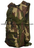 Las mujeres camuflan los deportes al aire libre que completan un ciclo subir yendo de excursión el bolso militar (CY3616)