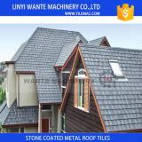 Mattonelle di tetto d'acciaio rivestite di pietra di collegamento scientifiche di Syetem del tetto che funzionano facilmente in tetto dell'edificio alto o del pendio ripido