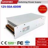 fonte de alimentação do interruptor de 12V 50A 600W para a monitoração de segurança