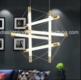 Semplici moderni decorano il lampadario a bracci creativo del tubo di Iron&Glass LED della sala da pranzo