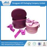 Caja de regalo de papel personalizado caja de regalo de flores de tubo redonda de embalaje