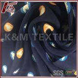 Impreso de 16mm 100 High-Stretchability crepe de seda de Chine tela con 135cm.