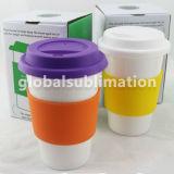 Taza del cono del polímero de la sublimación de taza de café modificada para requisitos particulares