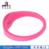 Wristband modificado para requisitos particulares del silicón de RFID para la patrulla del agua