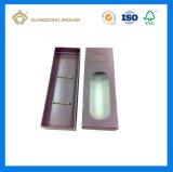 Preiswerter faltbarer gedruckter Haar-Extensions-verpackenkasten mit Belüftung-Fenster (mit gestempelschnittenem hängendem Loch)