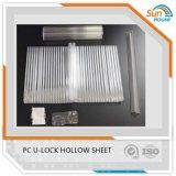 PC U-Lock feuille creux en polycarbonate alvéolaire U des feuilles de verrouillage