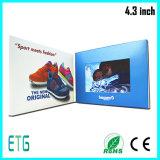 cartões video do uso do negócio 4.3inch para o LCD