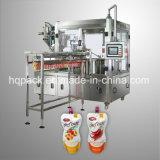 プラスチック袋のための液体の飲料の満ち、キャッピング機械