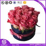 Круглый картон складывая коробку цветка косметического шоколада упаковывая