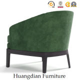 Butaca de encargo del sofá del marco de madera de los muebles de la sala de estar sola (HD531)