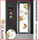 Pellicola smontabile della finestra di vetro Cina di disegno impermeabile del fiore di 2017 per i portelli