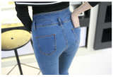 Venda Por Atacado Moda Skinny Tight Cotton Ladies Denim Jeans