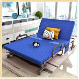 매트리스 (파랑 190*90cm)를 가진 접히는 벤치 침대 호텔 여분 침대