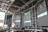 Sistema del braguero del concierto del canto que hace publicidad de la visualización
