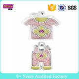 Charme für die Schmucksachen, die Tropfenfänger Decklack-rosafarbenes Schellfisch-Kurzschluss-Shirt-gesetzten Armband-Charme ölen lassen