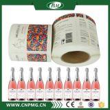 Escritura de la etiqueta adhesiva del cuello de la escritura de la etiqueta de la etiqueta engomada de la botella de vino BOPP