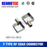 Conector femenino coaxial del RF F con blindar