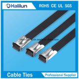 Atadura de cables revestida del bloqueo de la bola del epóxido del acero inoxidable de la fuerza para la electricidad