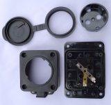 Ce Германии промышленного черного 1-х электрические разъемы удлинителя/блок питания (E6110E)