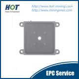 Placa de prensa impermeable de alta presión de filtro de membrana del tratamiento sólido y líquido