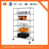 Nueva capa de nivel 6 Cable ajustable estantes estantes de metal cromado Rack