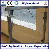 Balustrade en verre carrée et balustrade d'acier inoxydable de bride