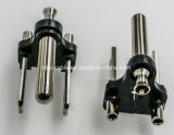 2 поляризовыванный Prong шнур питания NEMA, Nickel Coated латунная власть черных лезвия