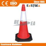 Rojo 750mm Reflectante PE Plástico Instalaciones Cono del Tráfico