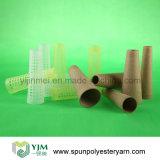 Hilados de polyester 100% en el tubo plástico