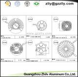Disipador de calor del perfil del fluocarbono/aleación de aluminio de aluminio que pintan (con vaporizador)