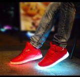 7개의 색깔 여자 빛난 단화 LED 놀 USB 재충전용 빛 LED 단화
