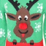 シカのジャカードデザインおよび柔らかいHandfeelのクリスマスのLadeisのセーター