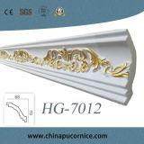 Cornisa de la espuma de la corona Moulding/PU del poliuretano que moldea para la decoración del techo