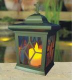 Lanterna della candela per la tomba, indicatore luminoso grave del LED, indicatore luminoso solare della candela del LED