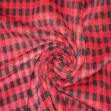 Se comprueba el tejido, espina de pez tejido de revestimiento, tejido de prendas de vestir, textil, ropa