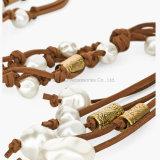 De recentste Halsbanden van de Parel van het Leer van de Halsband van de Verklaring van Vrouwen Met de hand gemaakte & Tegenhangers van Juwelen