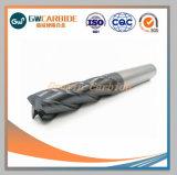 Fin de coupe en carbure monobloc CNC Mills Outils